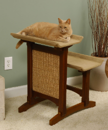 Deluxe Double Cat Seat  with Scratching Area